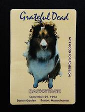 Grateful Dead Backstage Pass Collie Dog Boston Garden Massachusetts Ma 9/29/1993