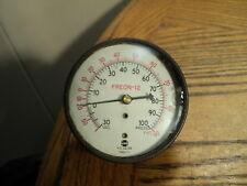 "Vintage 2-1/2"" U.S. Gauge Freon 12 Combination Gauge Tool  30 Vac. to 100 PSI"