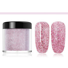 10ml NICOLE DIARY Dipping Powder Long Lasting Natural Dry Nail Purple Glitter