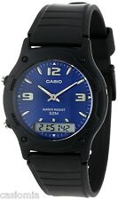 Casio AW49HE-2A Mens Classic Digital Analog Casual Watch 50M Dual Time Alarm