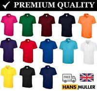 Mens Classic Polo T Shirt Casual Work Sports Pique Active Plain Sizes XS - 6XL
