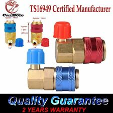 2 AC R134A Quick Connector Adapter Coupler Auto A/C Manifold Gauge Low/High HVAC