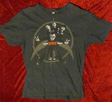 U2 Authentic 2009 360 Charcoal Usa Tour Shirt Medium Bono Edge Larry Adam