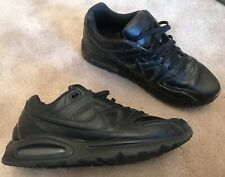 faf6a8d4e2 New listingNIKE AIR MAX COMMAND TRIPLE BLACK MENS LEATHER TRAINERS SHOES  SIZE UK 12