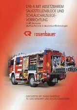 Prospekt Rosenbauer LFB A 8 01 2001 Feuerwehrfahrzeug Feuerwehr LKWs fire trucks