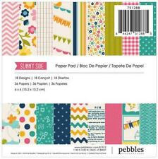 """Pebbles ~ SUNNY SIDE ~ 6"""" x 6"""" Paper Pad 36 sheets 751288 New 2012"""