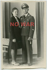 WWII GERMAN OLD PHOTO YOUNG LUFTWAFFE Feldwebel With DAGGER & LADY PORTRAIT