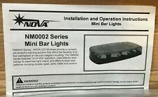 NOVA NM002 Low Profile LED Mini Bar Lights Lightbar Magnetic-Suction Mount Amber