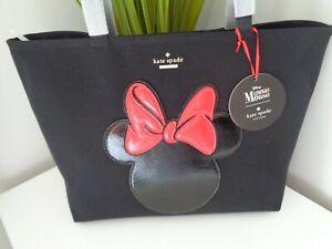BNWT Kate Spade Minnie Mouse Black Canvas Tote Bag