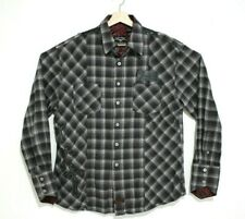 Fender Custom Shop Mens Size Extra Large XL Plaid Rock and Roll Button Up