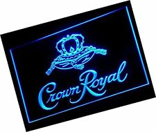 Crown Royal Whiskey beer Bar Led Neon Light Sign Man Cave A104-B, Colors Vary