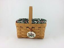 Longaberger 1999 Candle Basket Combo w Tie On Traditional Holly