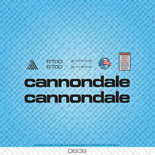 Cannondale R700 Bicycle Decals - Transfers - Stickers - Black - Set 0609