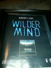 Mumford and Sons Wilder Mind Original Promo Poster Ad Framed!