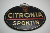 Citronia Spontin Soda Di - Rari Vecchio Targa Latta Cartello Pubblicità - B 1957
