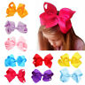 New Boutique Knot  Girl Hair Accessory Grosgrain Ribbon Baby Hair Bow Clip 6Inch