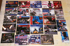 """**HUGE** COLLECTION OF """"100"""" DIFFERENT TOP FUEL DRAGSTER DRAG RACING HANDOUTS!!!"""