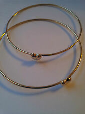 LOVELY 9CT 925 GOLD PLATED KARMA LOVE HEART BANGLE BRACELET