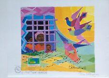 "Chaim Gross Hand Signed Art Print, ""Bird in the Hand"""