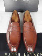 NEW GAZIANO GIRLING for RALPH LAUREN Brown Leather Loafer Shoes UK 9.5 E £995