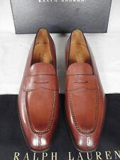 Nuevo GAZIANO GIRLING para RALPH LAUREN Mocasín Zapatos Marrón De Cuero UK 9.5 e £ 995