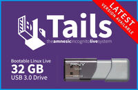 Tails Linux 64Bit 32GB USB 3.0 Bootable OS Operating System Install Live