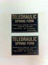 Teledraulic Spring Fork Sticker Set for Matchless Norton Triumph - NEW - #(F-39)