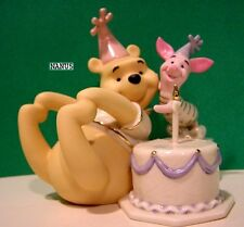 LENOX POOH PIGLET'S BIRTHDAY CAKE SURPRISE Sculpture NEW in BOX with COA