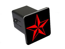 Nautical Star - Red - Tow Trailer Hitch Cover Plug Insert Truck Pickup