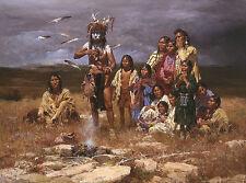 Howard Terpning SHAMAN & HIS MAGIC FEATHERS MasterWork, Native American #200/250