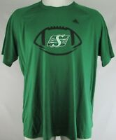 Saskatchewan Roughriders Men's Green Adidas Short Sleeve T-Shirt 3XL 4XL CFL