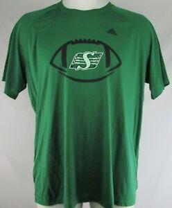 Saskatchewan Roughriders CFL Men's Green Adidas Short Sleeve T-Shirt