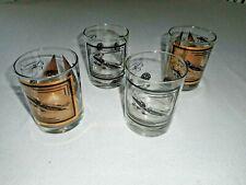 New listing set of Four vtg (4) Cessena drinking/bar glasses Cr-2 Comet N1400Y