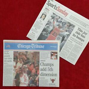 Chicago Bulls 1997 Chicago Tribune Championship ORIGINAL NEWSPAPER