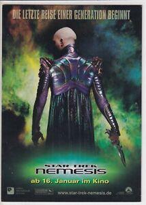 AK - (D) - Nemesis - Star Trek - 2002 - Kino-Reklame - Top Zustand
