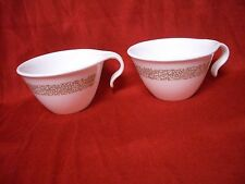 2 Corelle (Corning) Woodland Brown ~ Hook Handle Cups