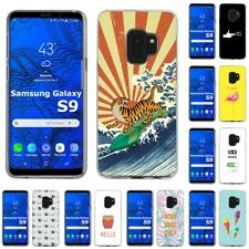 Thin Gel Design Protective Phone Case Cover for Samsung Galaxy S9,Tiger Print