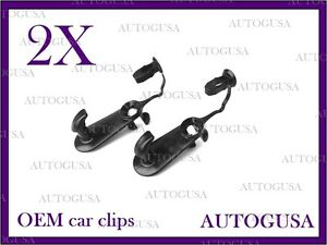 NEW OEM TOYOTA LEXUS BLACK CAR FLOOR MAT CLIPS FIXING HOOKS CARPET CLIPS 2PCS