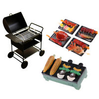 1/12 Dollhouse Miniature Outdoor Picnic Barbecue BBQ &Grill Oven Toy Gifts