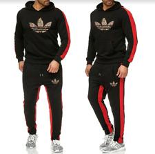 Men's Adidas Joggers Tracksuit Hoodie & Pants Set Sportswear Gym Sweatshirt Suit