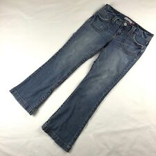 Aeropostale Hailey Skinny Flare Womens Distressed Stretch Blue Jeans Size 9/10 S
