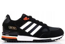 Adidas Zx 750 Originals Herrenschuhe Turnschuhe Klassisch Sneaker Black FV6604