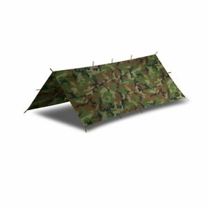 Helikon Tex Supertarp Outdoor Tarp Plane Camping US Army woodland Camouflage