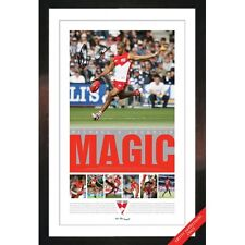 SYDNEY SWANS MICHAEL O'LOUGHLIN SIGNED AND FRAMED RETIREMENT LITHOGRAPH