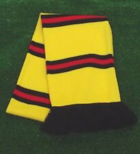 Watford Colours Retro Bar Scarf - Yellow,Black & Red - Made in UK