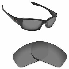 Hawkry Polarized Replacement Lenses for-Oakley Fives Squared Sport Black