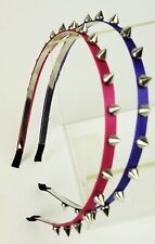 2 PCS Silver Spike Studded Headband for Women Girl Solid Color Assorted