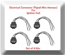 4 Kits Electrical Pigtail Wire Harness Connector of Ignition Coil For UF-350