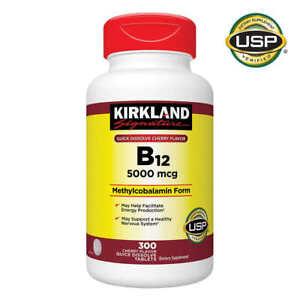 Kirkland Signature B-12 5000mcg Health Vitamins Quick Dissolve Tablet 300 Count