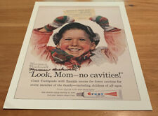 """Signed Norman Rockwell/Crest """"Look, Mom-No Cavities!"""""""